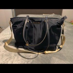 MK Diaper Bag Navy and Tan